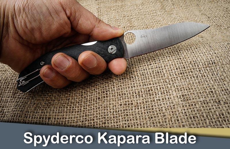 Spyderco Kapara Blade Design